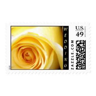 Yellow Rose Wedding Collection Postage Stamp