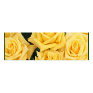 YELLOW ROSE WEDDING FAVOR CARDS BUSINESS CARD
