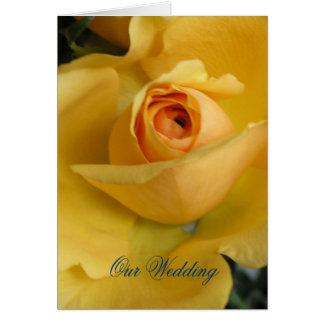 Yellow Rose Wedding Invitation Greeting Card