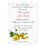 Yellow Rose Wedding Invitations