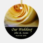 Yellow Rose Wedding Ornament