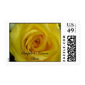 Yellow Rose Wedding Postage