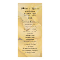 Yellow Rose Wedding Program Custom Rack Cards
