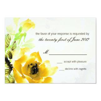Yellow Rose Wedding RSVP Response Card