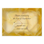 Yellow Rose Wedding RSVP Response Card Custom Announcements