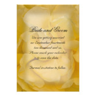 Yellow Rose Wedding Save the Date Announcement