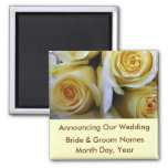 Yellow Rose Wedding Save the Date Magnet