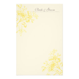 Yellow Rose Wedding Stationery