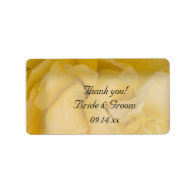 Yellow Rose Wedding Thank You Label