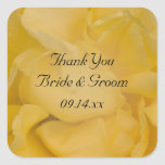 Yellow Rose Wedding Thank You Stickers