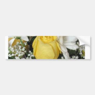 Yellow Rose white daisies Bumper Sticker
