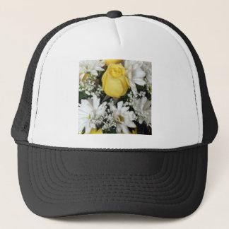 Yellow Rose white daisies Trucker Hat