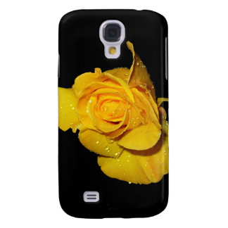 Yellow Rose with Dew Drops Galaxy S4 Cover