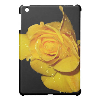 Yellow Rose with Dew Drops iPad Mini Case
