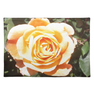 Yellow Rose with Orange Tinge Cloth Placemat