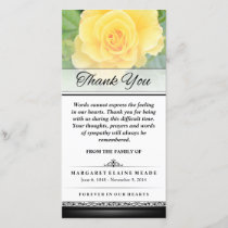 Yellow Rose Words Cannot Express Sympathy Card