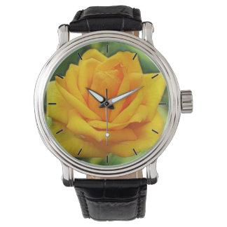 Yellow Rose Wrist Watch