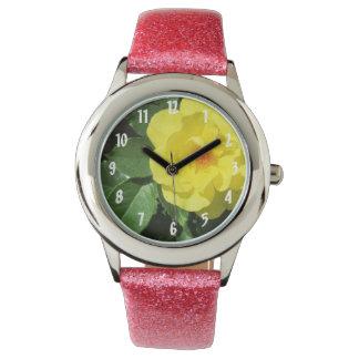 Yellow Rose Wristwatch
