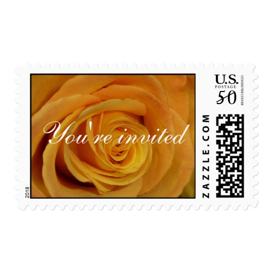 Yellow Rose You're invited Postage