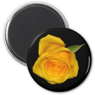 Yellow Rosebud 2 Inch Round Magnet