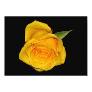 Yellow Rosebud 5x7 Paper Invitation Card