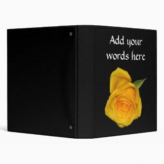 Yellow Rosebud Binders