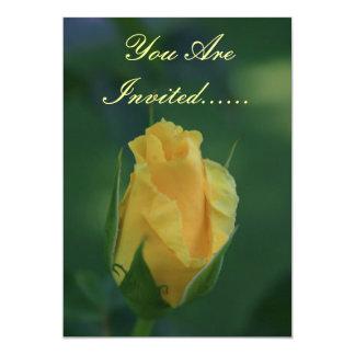 Yellow Rosebud Invite