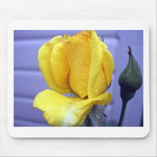 Yellow Rosebud Mouse Pad
