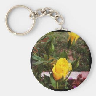 Yellow rosebuds! key chains