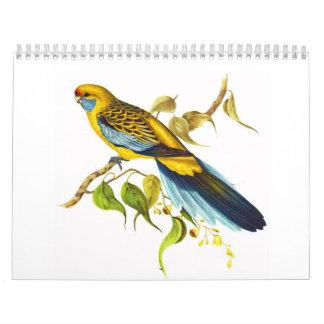 Yellow Rosella Wall Calendar