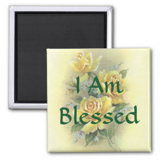 Yellow Roses 2 Inch Square Magnet