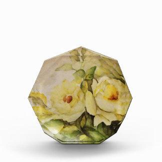 Yellow Roses Acrylic Award