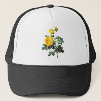 Yellow Roses by Pierre Joseph Redoute Trucker Hat