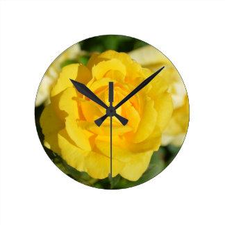 Yellow Roses Round Clock