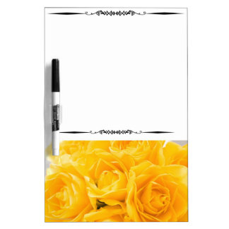 Yellow Roses Close-Up Picture Dry Erase Board