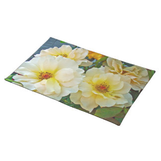 Yellow Roses Cloth Placemat