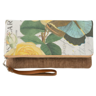 Yellow Roses Collage Clutch