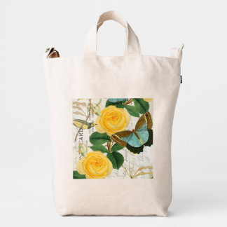 Yellow Roses Collage Duck Bag