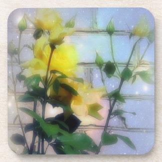 Yellow Roses Cork Coaster