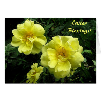 Yellow Roses Easter Card