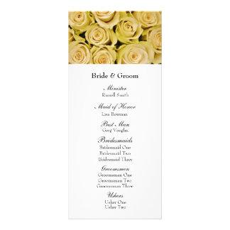 Yellow Roses Elegant Floral Wedding Program