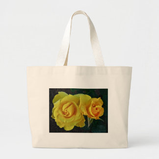 Yellow Roses Floating In Space Canvas Bag