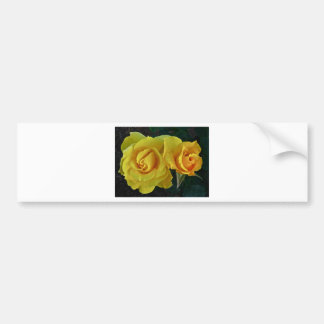 Yellow Roses Floating In Space Bumper Sticker