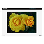 Yellow Roses Floating In Space Decal For Laptop