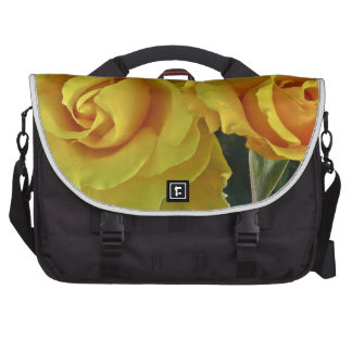 Yellow Roses Floating In Space Laptop Bag