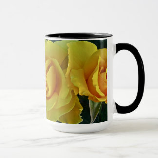 Yellow Roses Floating In Space Mug