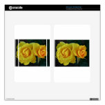 Yellow Roses Floating In Space Skin For Kindle Fire