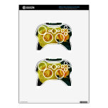 Yellow Roses Floating In Space Xbox 360 Controller Skin