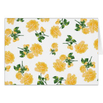 Yellow roses Floral pattern on white