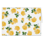 Yellow roses Floral pattern on white Card